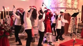 رقصة تعبيرية لأطفال الكنيسة الانجيلية المعمدانية كفر ياسيف