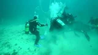 وضع صليب على عمق 20 مترا في البحر الاسود