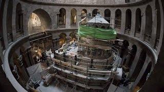 احتفال مسكونى تاريخى بترميم قبر المسيح .. القبر المقدس