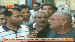 جانب من لقاءات مع أسر شهداء الاعتداء الارهابي بطريق دير الأنبا صموئيل بالمنيا من دير الجرنوس
